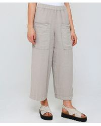 Grizas - Natural Linen Cropped Pocket Trousers - Lyst