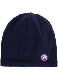 Canada Goose - Blue Merino Beanie Hat for Men - Lyst