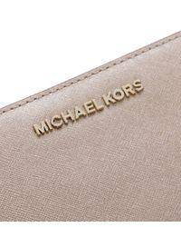 MICHAEL Michael Kors | Jet Set Continental Metallic Purse | Lyst