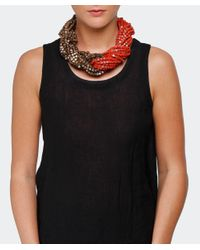 Jianhui | White Textile Multi Strand Necklace | Lyst