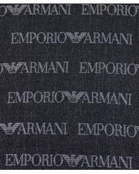 Armani Blue Logo Scarf for men