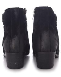 H by Hudson - Black Suede Ankti Boots - Lyst