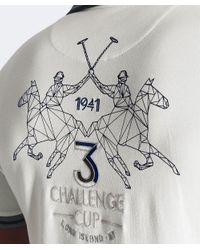 La Martina - White Slim Fit Pique Harvie Polo Shirt for Men - Lyst
