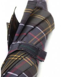 Barbour - Green Tartan Umbrella - Lyst