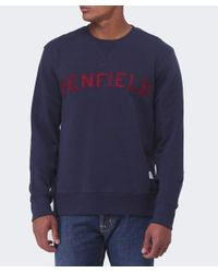 Penfield | Blue Crew Neck Brookport Sweatshirt for Men | Lyst