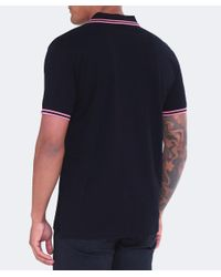 PS by Paul Smith - Black Slim Fit Pique Polo Shirt for Men - Lyst