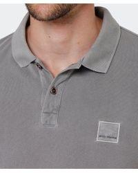 BOSS Gray Slim Fit Pascha Polo Shirt for men