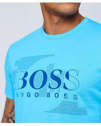 BOSS - Blue Regular Fit Tee 1 T-shirt for Men - Lyst