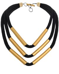 Christina Brampti - Metallic Multi Strand Tube Necklace - Lyst
