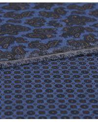 Jules B - Blue Paisley Cotton Scarf for Men - Lyst