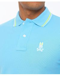 Psycho Bunny - Blue Neon Bunny Polo Shirt for Men - Lyst