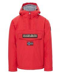 Napapijri - Red Waterproof Rainforest Winter Jacket for Men - Lyst
