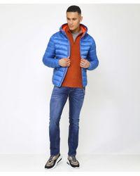 Napapijri - Blue Hooded Aerons Jacket for Men - Lyst