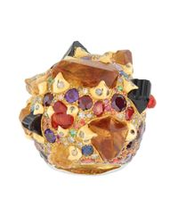 Sylvie Corbelin - Metallic Orange Multi Gemstone Ring - Lyst