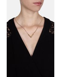 Karen Millen - Metallic Angle Crystal Necklace - Gold Colour - Lyst