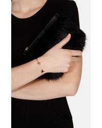 Karen Millen - Metallic Arrow Bracelet - Gold Colour - Lyst