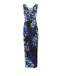 Karen Millen   Butterfly Print Maxi Dress - Blue/multi   Lyst