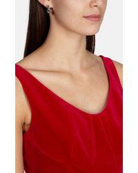 Karen Millen | Metallic Crystal Dot Drop Earring | Lyst