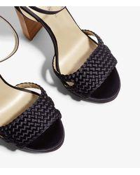 Karen Millen - Blue Woven Heeled Sandals - Lyst
