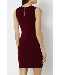 Karen Millen - Asymmetric Waist Dress - Purple - Lyst