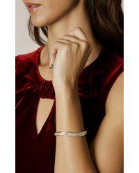 Karen Millen - Multicolor Zz022 Pave Wave Bracelet - Gold Colour - Lyst