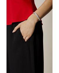 Karen Millen - Gray Zz022 Pave Wave Bracelet - Km - Lyst