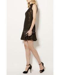 Karen Millen - Jewel Encrusted Suede Sandals - Black - Lyst