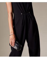Karen Millen - Glitter Fabric Clutch - Black - Lyst