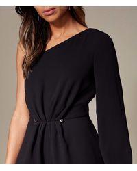 Karen Millen - Black Bar Waist Jumpsuit - Lyst