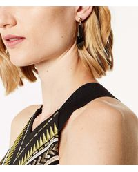 Karen Millen - Metallic Geometric Charm Drop Earrings - Lyst