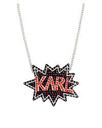 Karl Lagerfeld | Multicolor K/pop Glitter Necklace | Lyst