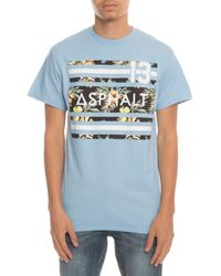 Asphalt Yacht Club - Blue The Island Stripe Tee for Men - Lyst
