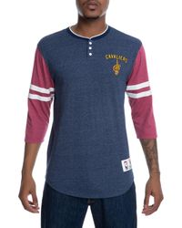 Mitchell & Ness - Blue The Cleveland Cavaliers Homestretch Henley for Men - Lyst