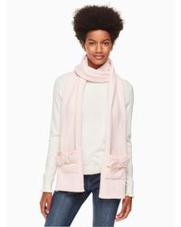 Kate Spade - Pink Bow Scarf - Lyst