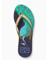 kate spade new york - Metallic Nassau Sandals - Lyst