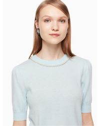 Kate Spade - Blue Pearl Embellished Sweater - Lyst