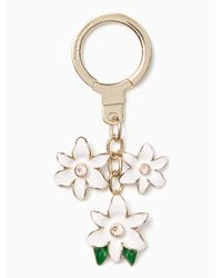 kate spade new york | White Enamel Flower Keychain | Lyst