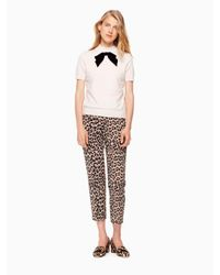 Kate Spade - Multicolor Velvet Bow Sweater - Lyst