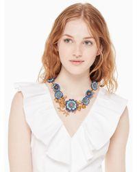 Kate Spade - Blue Flower Child Statement Necklace - Lyst