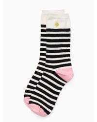 Kate Spade - Black Cheetah Trouser Sock Set - Lyst