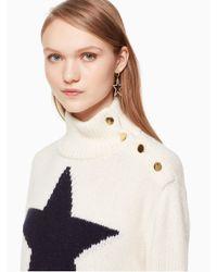 Kate Spade - Multicolor Star Knit Turtleneck Sweater - Lyst