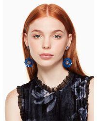 Kate Spade - Blue Snowy Nights Linear Statement Earrings - Lyst