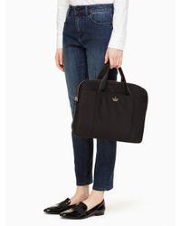 Kate Spade | Black Classic Nylon Laptop Commuter Bag | Lyst
