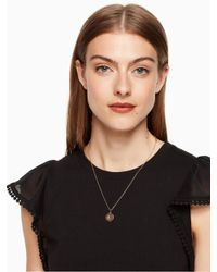 Kate Spade - Multicolor Initial Pendant - Lyst