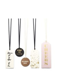 Kate Spade - White Cheers Wine Tag Set - Lyst