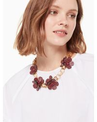 Kate Spade - Multicolor Blooming Bling Leather Statement Necklace - Lyst