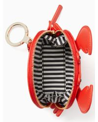 Kate Spade - Red Shore Thing Crab Coin Purse - Lyst