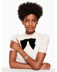 Kate Spade - Multicolor All Tied Up Pave Knot Bangle - Lyst