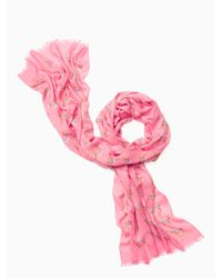 kate spade new york | Pink Camel March Oblong Scarf | Lyst