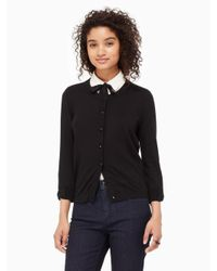 kate spade new york | Black Somerset Cardigan | Lyst